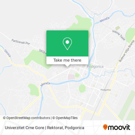 Univerzitet Crne Gore   Rektorat map