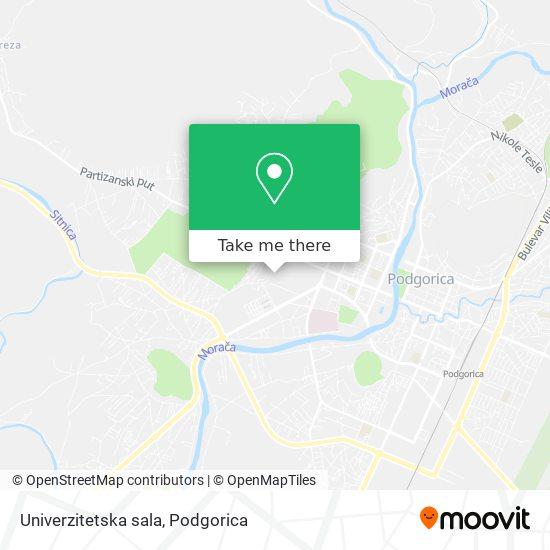 Univerzitetska sala map