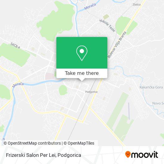 Frizerski Salon Per Lei map