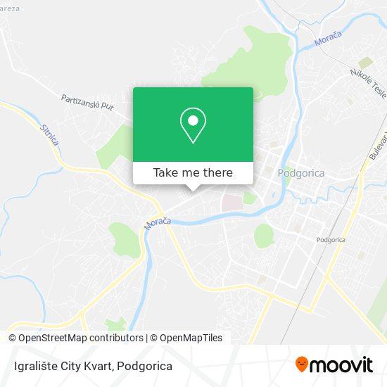 Igralište City Kvart map