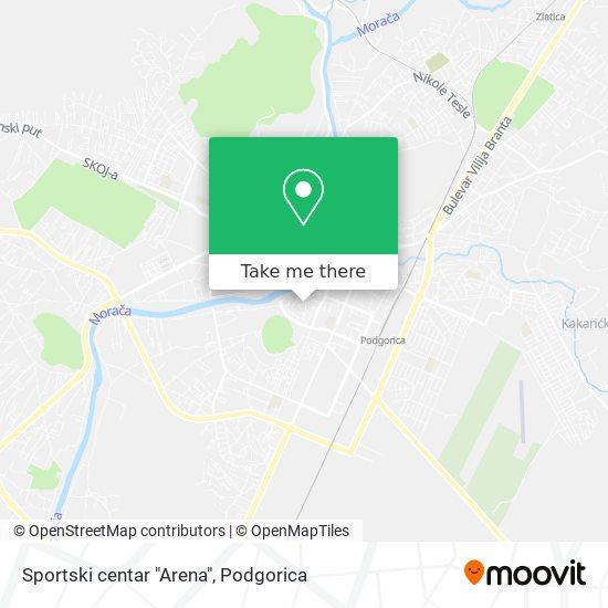 "Sportski centar ""Arena"" map"