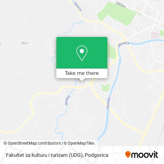 Fakultet za kulturu i turizam (UDG) map