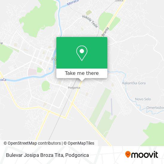 Bulevar Josipa Broza Tita map