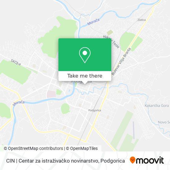 CIN | Centar za istraživačko novinarstvo map