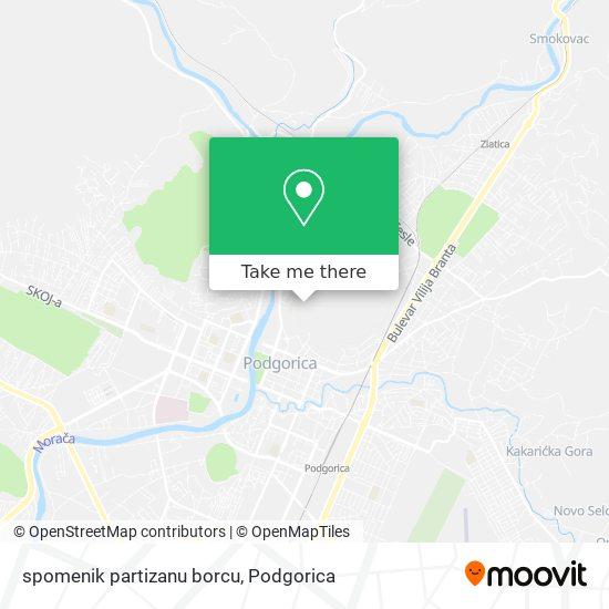 spomenik partizanu borcu map