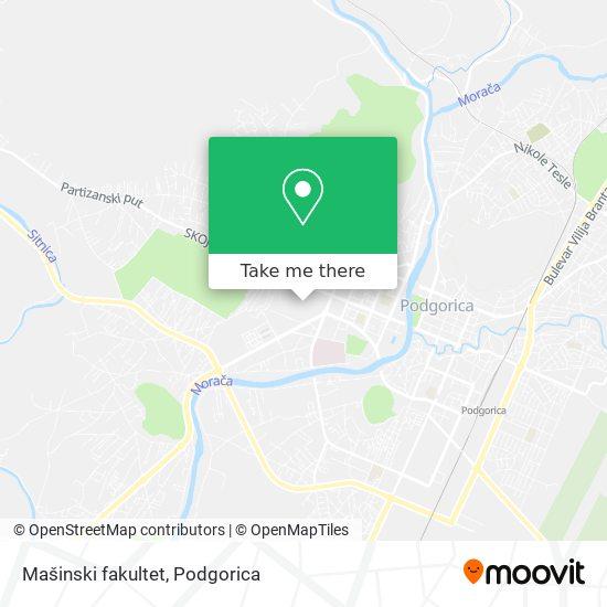 Mašinski fakultet map