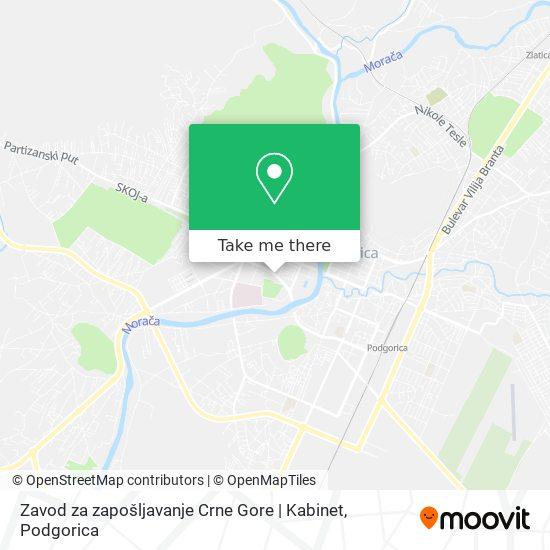 Zavod za zapošljavanje Crne Gore | Kabinet map