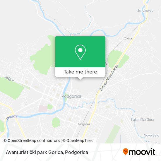 Avanturistički park Gorica map