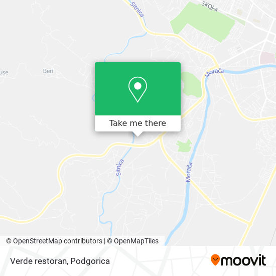 Verde restoran map