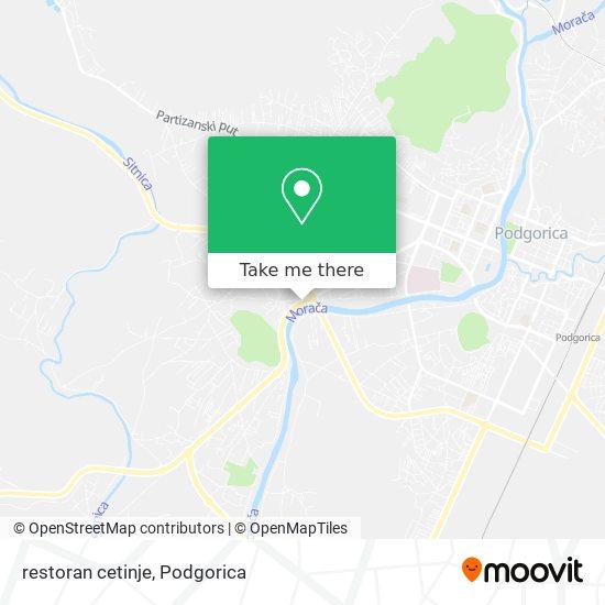 restoran cetinje map
