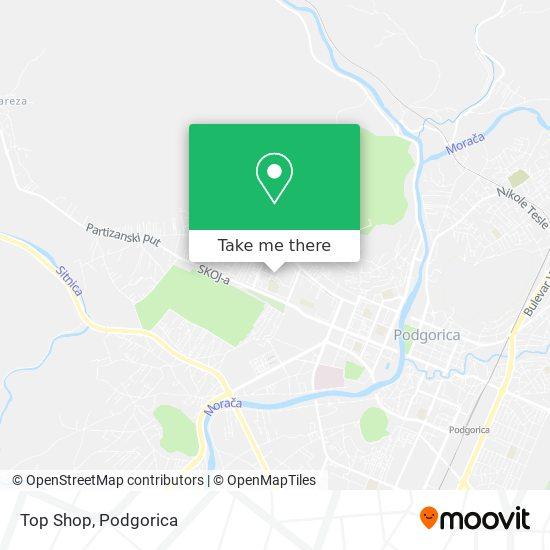 Top Shop map