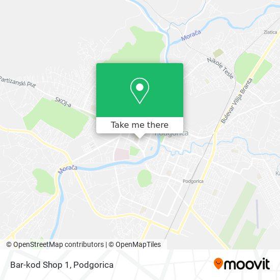 Bar-kod Shop 1 map