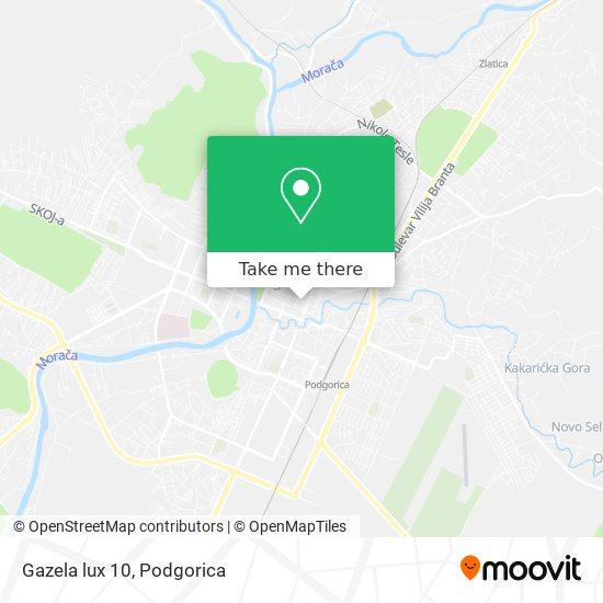 Gazela lux 10 map