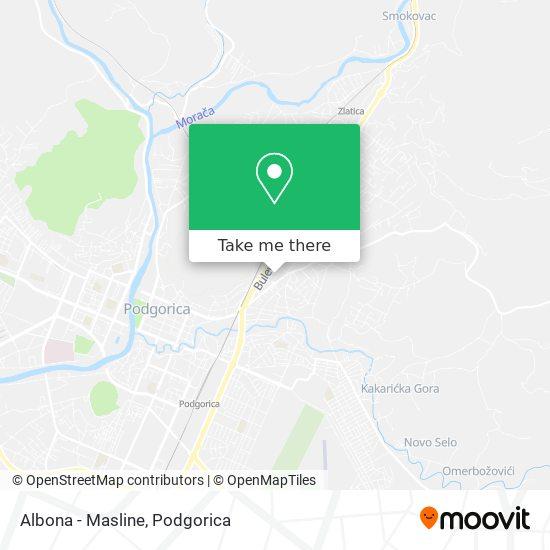 Albona - Masline map