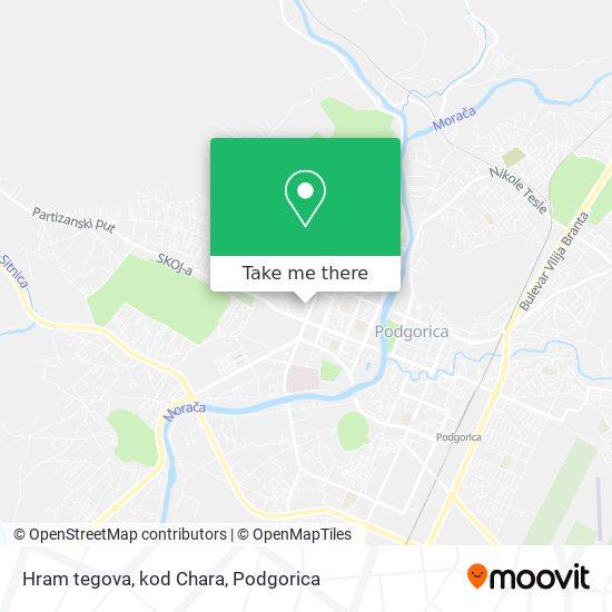 Hram tegova, kod Chara map