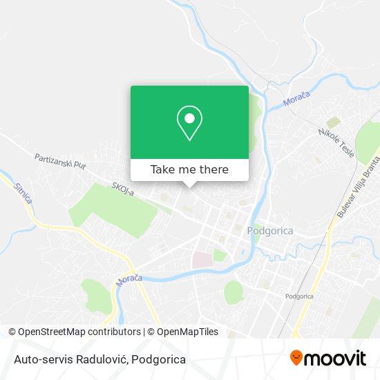 Auto-servis Radulović map
