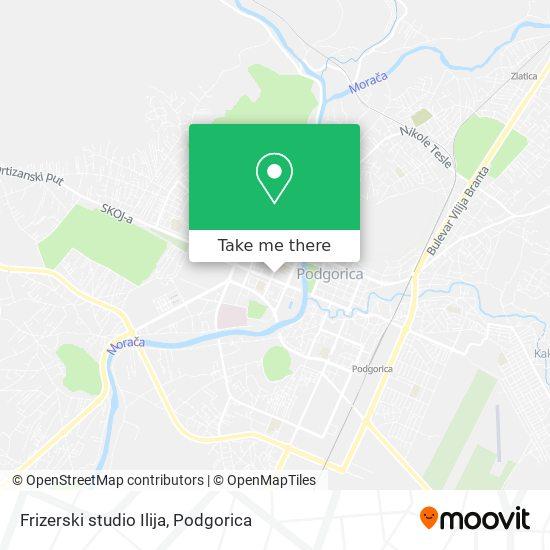 Frizerski studio Ilija map