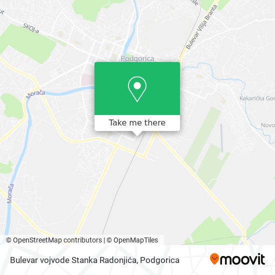 Bulevar vojvode Stanka Radonjića map