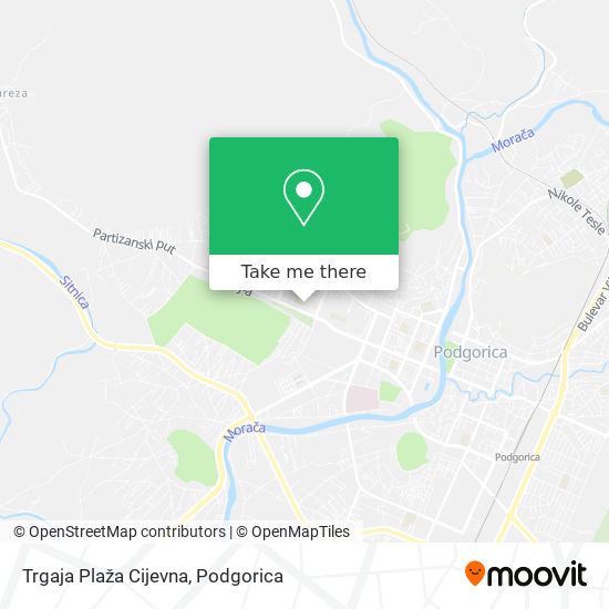 Trgaja Plaža Cijevna map