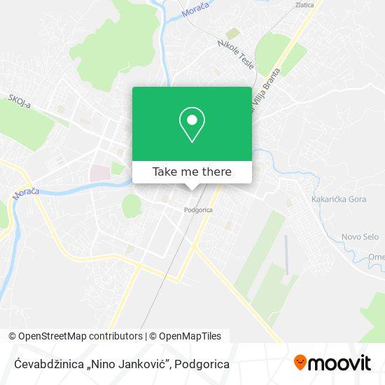 """Ćevabdžinica """"Nino Janković"""" map"""