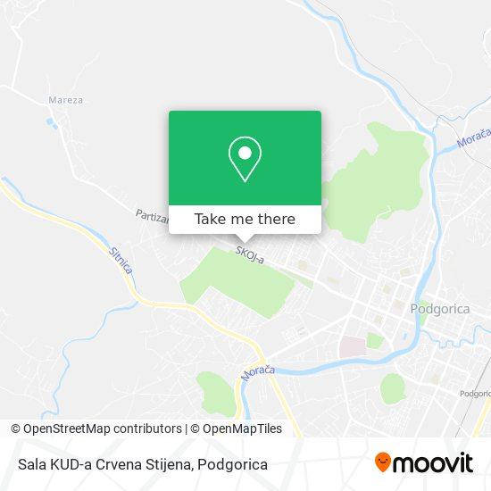 Sala KUD-a Crvena Stijena map