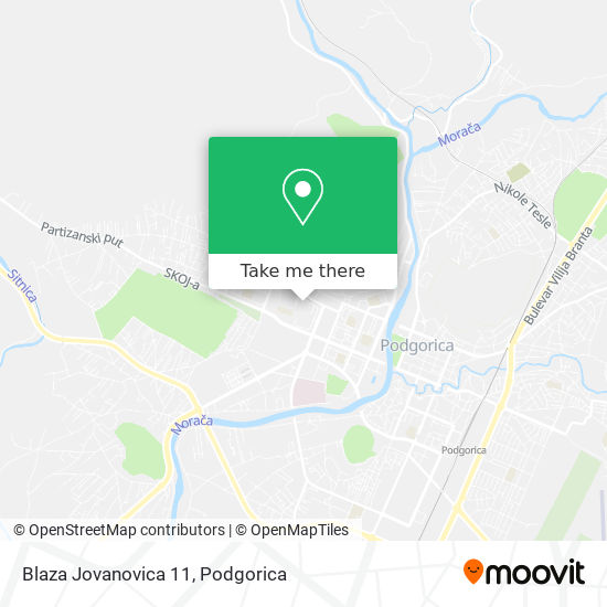 Blaza Jovanovica 11 map