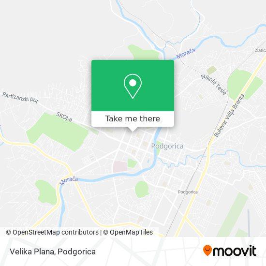 Velika Plana map