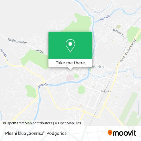 "Plesni klub ""Sonrisa"" map"
