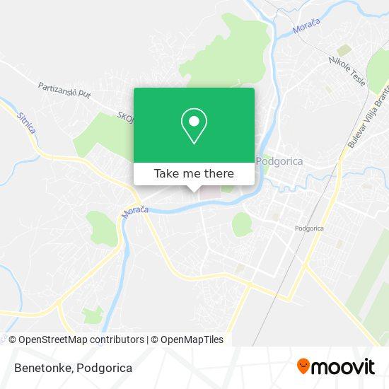 Benetonke map