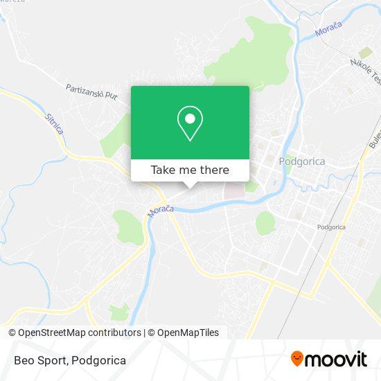 Beo Sport map