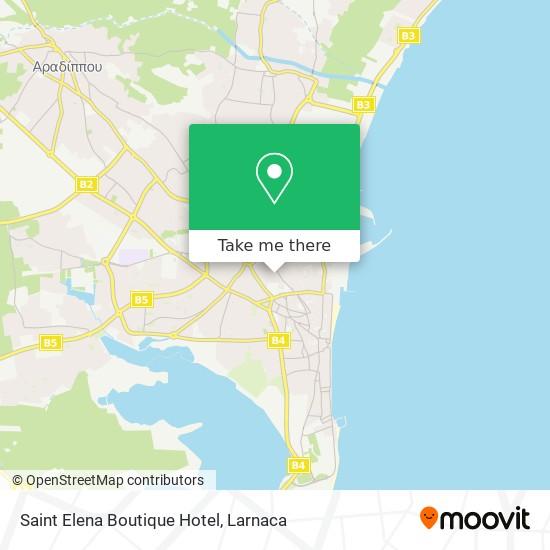 Saint Elena Boutique Hotel χάρτης