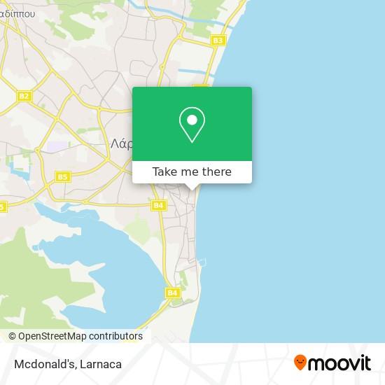 Mcdonald's χάρτης