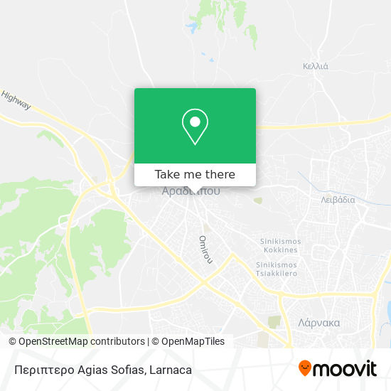 Περιπτερο Agias Sofias χάρτης