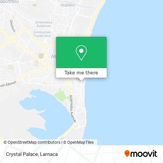 Crystal Palace χάρτης