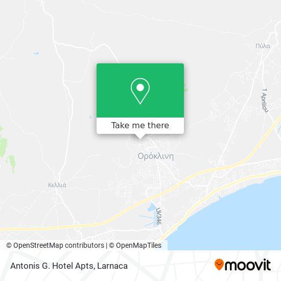 Antonis G. Hotel Apts χάρτης
