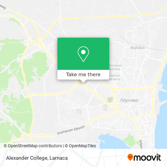 Alexander College χάρτης
