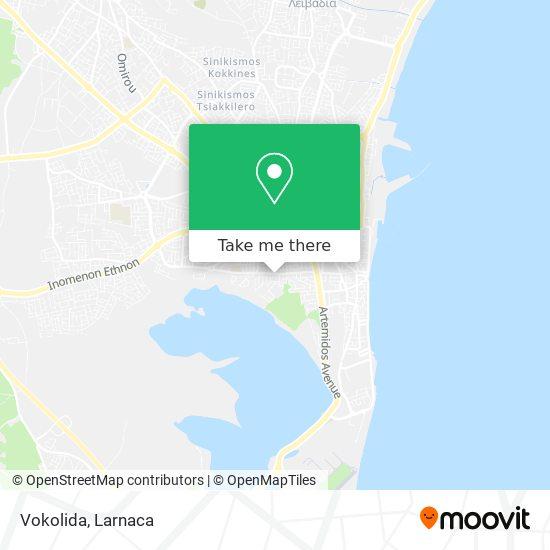 Vokolida χάρτης