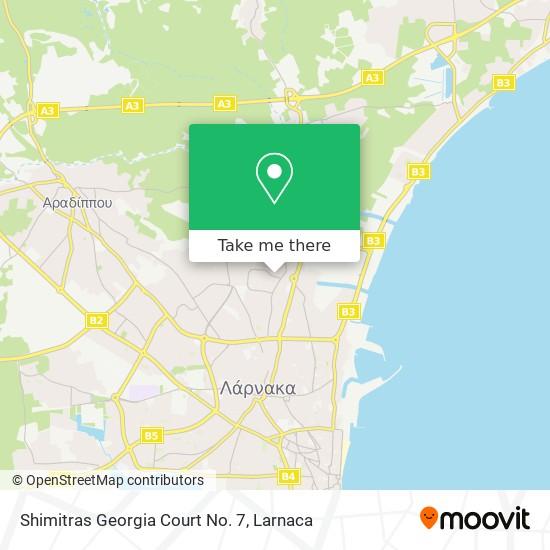 Shimitras Georgia Court No. 7 χάρτης