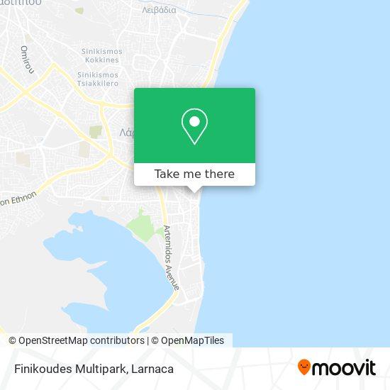 Finikoudes Multipark χάρτης