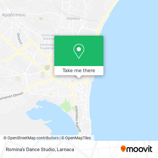 Romina's Dance Studio χάρτης