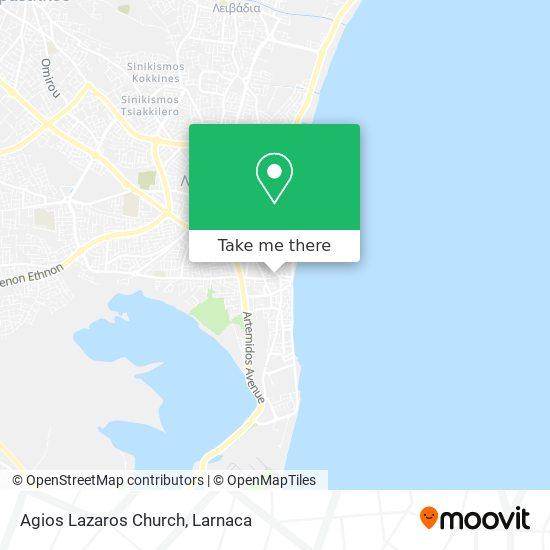 Agios Lazaros Church χάρτης