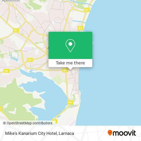 Mikes Kanarium City Hotel χάρτης