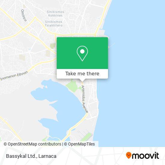 Bassykal Ltd. χάρτης
