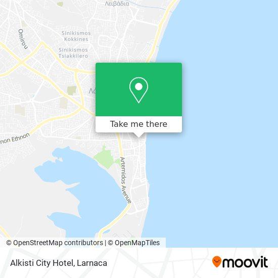 Alkisti City Hotel χάρτης