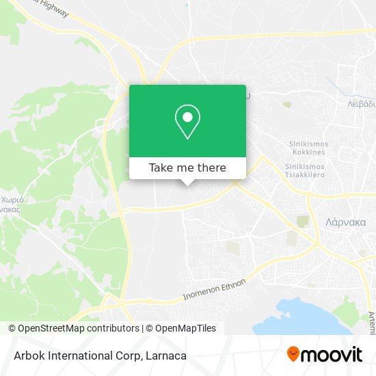 Arbok International Corp χάρτης