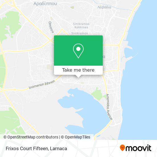Frixos Court Fifteen χάρτης