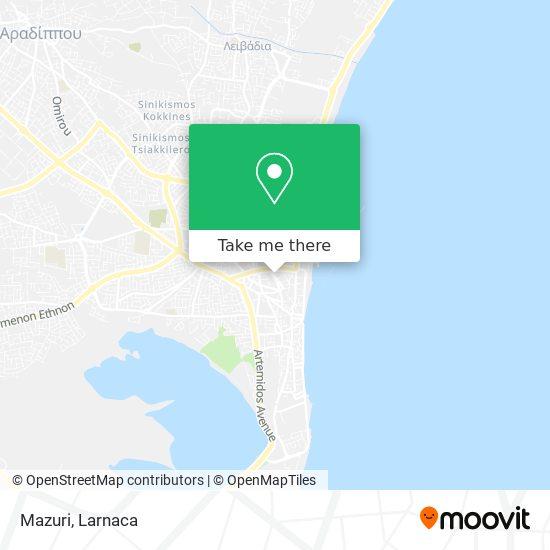Mazuri χάρτης