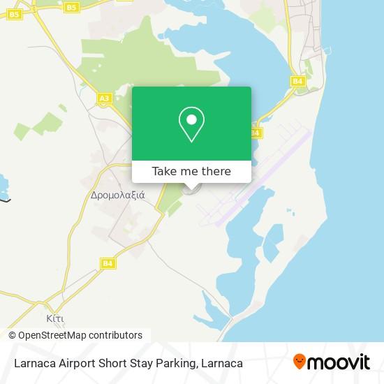 Larnaca Airport Short Stay Parking χάρτης
