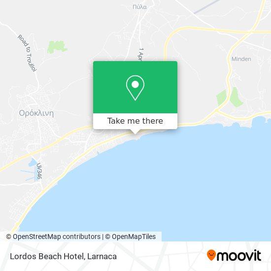 Lordos Beach Hotel χάρτης