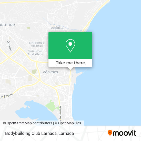 Bodybuilding Club Larnaca χάρτης